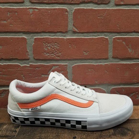 Vans Old Skool Pro Checkerboard White